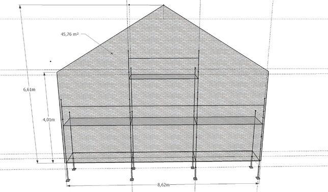 Sprzedam rusztowanie choinkowe 46 m2, klinowe podesty blaty TRANSPORT