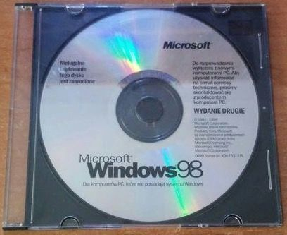 Hobby Oryginalny Windows 98 Płyta CD Kolekcjoner Windows'98