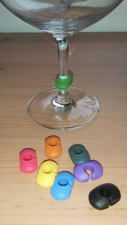 Marcadores de copos de silicone - 8 unidades