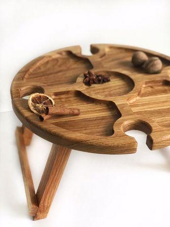 Винный столик / деревянные менажницы из карпатского дуба