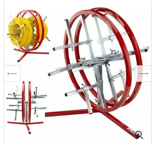 Rozwijak podwójny pionowy do kabli i przewodów