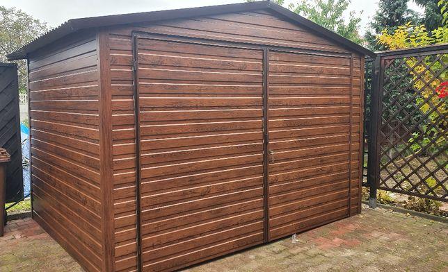 Garaż blaszany drewnopodobny 3m x 3m NOWY!!!PROMOCJA!!!