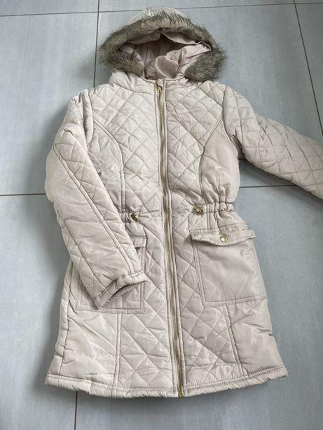 Nowa kurtka zimowa r.158cm lub xs kremowa kiciuś