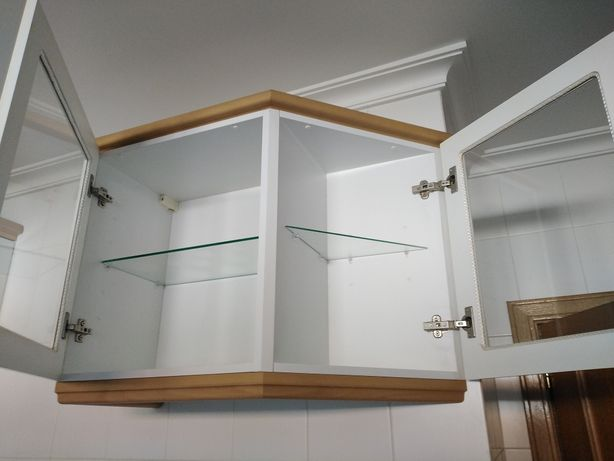 Armário de parede de canto para cozinha