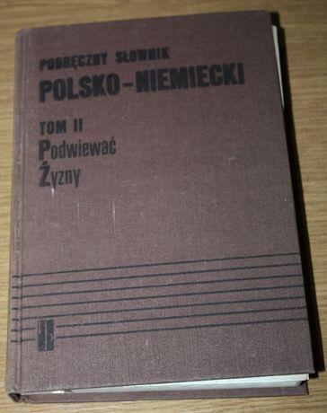Słownik polsko-niemiecki tom II 1983 r