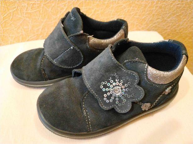 Замшеві черевички Primigi/ ботинки/ туфельки для дівчинки, розмір 27