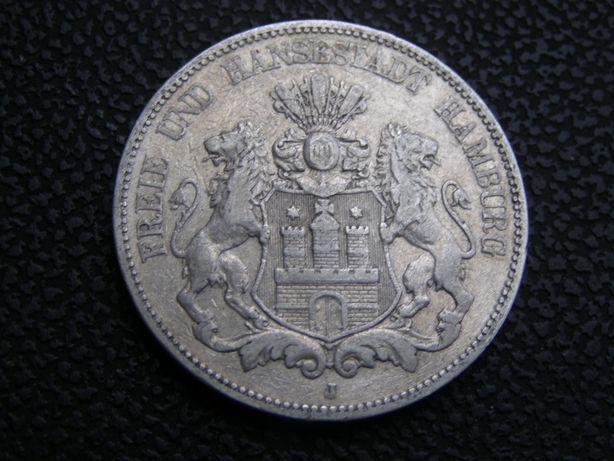 5 марок 1876 J Гамбург