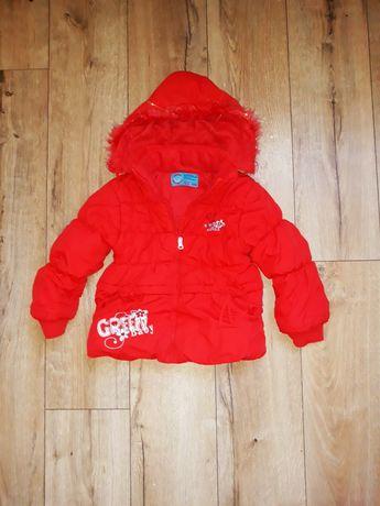 Czerwona kurtka pakowana zimowa r 104
