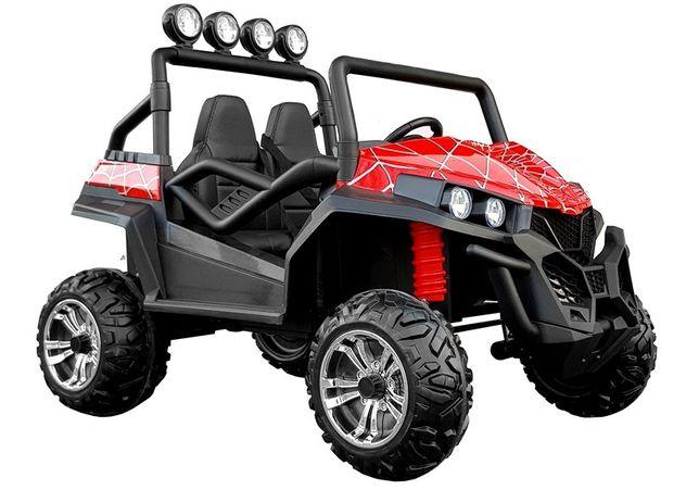 Auto na Akumulator S2588 Czerwony Lakier Spider 4X4