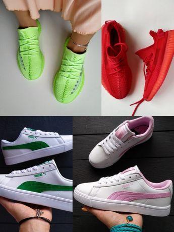 РАСПРОДАЖА ТОП женские кроссовки adidas Yeezy 350,кеды Puma