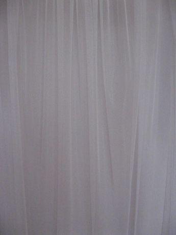 Kupon firanka biała gładka drobna siateczka