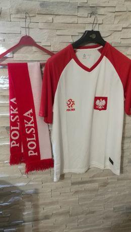 Koszulka piłkarska reprezentacji Polski + szalik