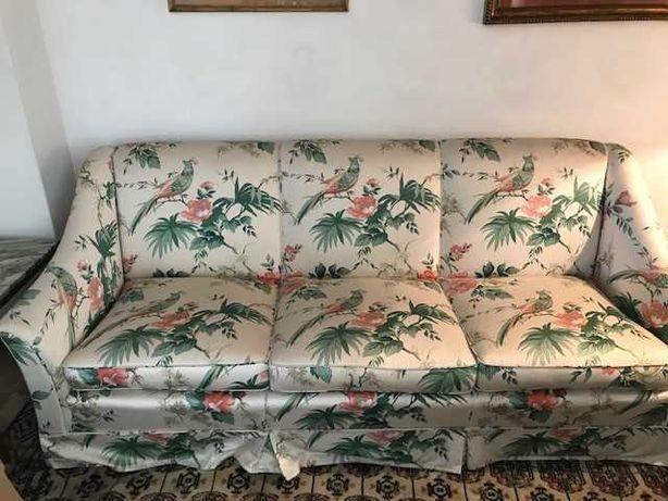 Conjunto: sofá de 3 lugares + 2 maples - optimo estado