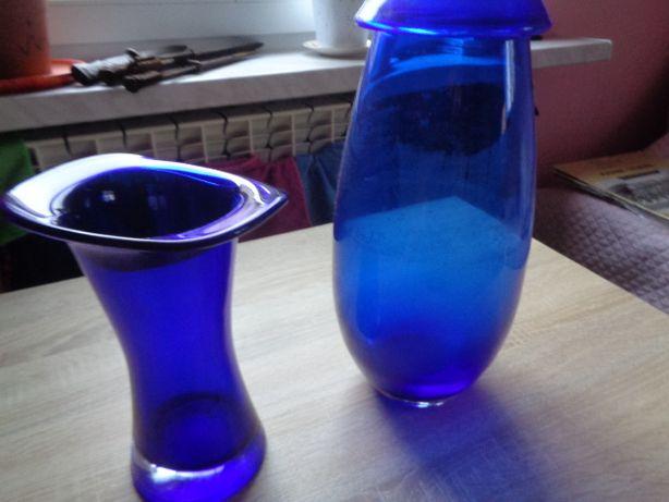 wazon wazony kobaltowe 2 sztuki nietypowej formie