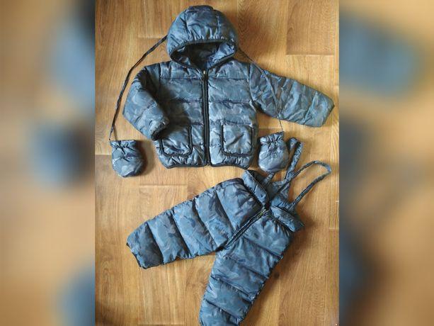 Зимний комбинезон ADD Италия куртка штаны костюм комплект варежки 86