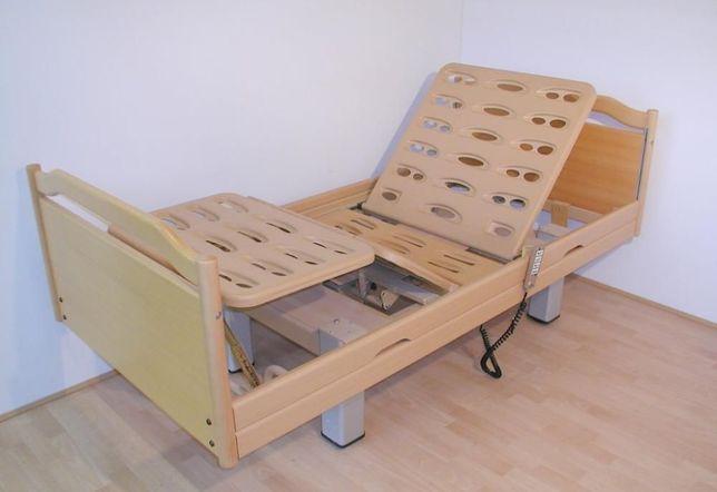 Domowe łóżko rehabilitacyjne elektryczne - drewniane