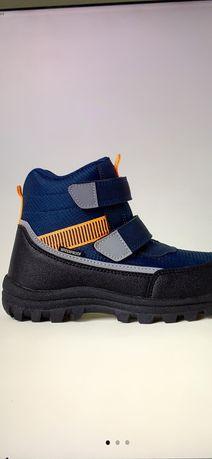 Buty jak nowe wodoszczelne zimowe jesienne rzepy polar odblaski