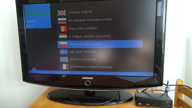 Sprzedam TV Samsung 32cale, dekoder tv naziemnej z anteną, DVD