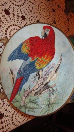 Colecções Philae pratos de aves exóticas,