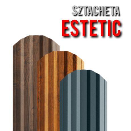 *Sztacheta Metalowa Estetic*Sztachety Ogrodzeniowe Blaszane z Blachy