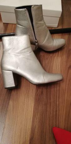 Srebrne buty Zara 36