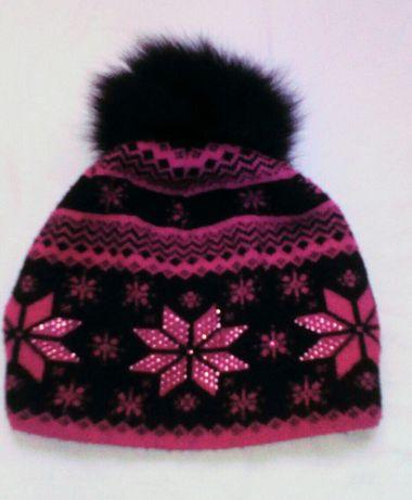 Шапка шапочка утепленная флисом осень-зима девочке 134 140 146 152 158