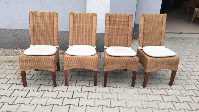 4 Krzesła ogrodowe rattanowe/ krzesła na taras