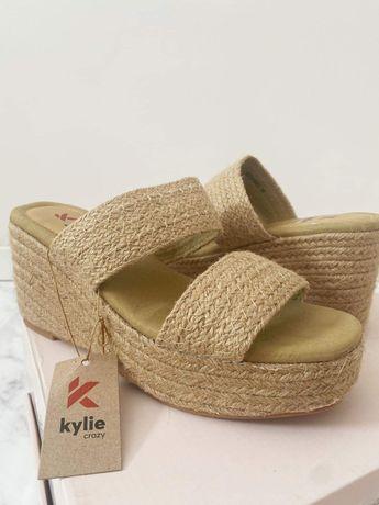 Sandały espadryle Kylie na koturnie rozmiar 39