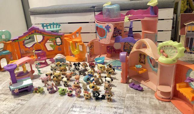 Mega zestaw Littles Pet Shop 3 DOMKI 36 figurek + akcesoria