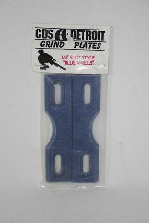 P/ Patins em Linha-CDS Detroit-Grind Plates-1/4 Slot style-Blue Angels