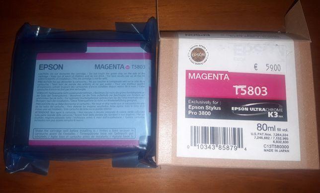 Tinteiro Epson cor Magenta T5803
