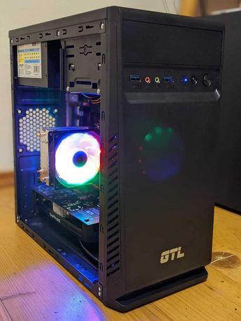 Ігровий компьютер ПК (6 ядер, 12 потоків, 16 ГБ ОЗУ, RX 460 2 ГБ)