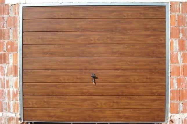Brama garażowa BRAMY na wymiar Bramy Garażowe ORZECH ZŁOTY DĄB MAHOŃ