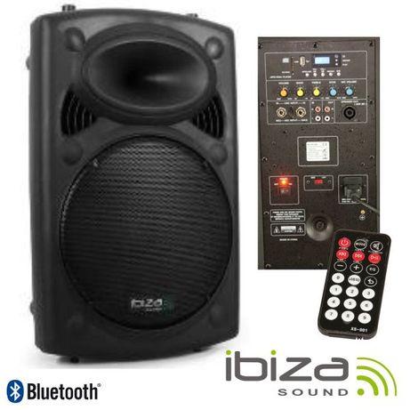 """Coluna Bi-Amplificada 15"""" 800Wmáx USB/BT IBIZA"""