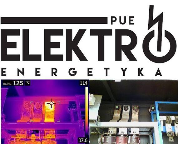 Elektryk termowizja pomiary analiza jakości energii prace>1kV przemysł