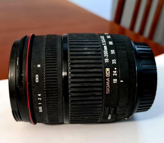Obiektyw Sigma 18-200mm, F3,5-6,3 DC  do Canona