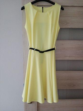 Żółta letnia sukienka rozmiar S