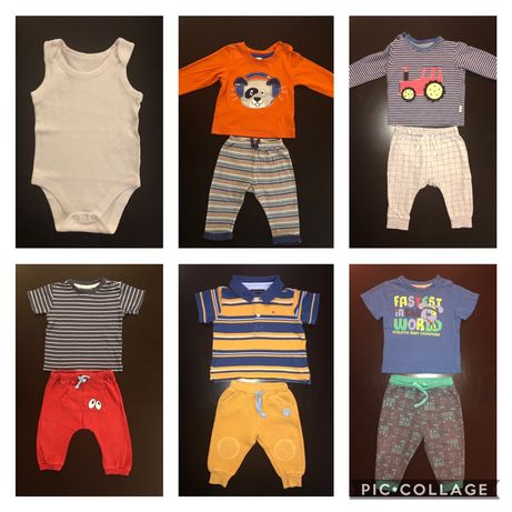 Paka dla niemowlaka r. 74 - bluzki, spodnie, body