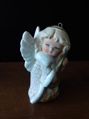 Figurka aniołka z gipsu / bombka choinkowa | gipsowy aniołek