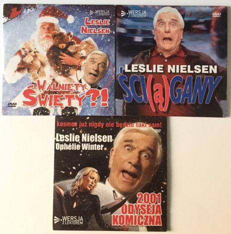 DVD Leslie Nielsen Zestaw Lektor 3 filmy Parodie komediowe