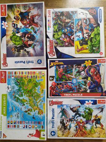 Gry, puzzle Avengers, książki dla dzieci