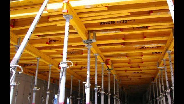 Szalunki stropowe i ścienne wypożyczalnia stemple doki płyty (wynajem)