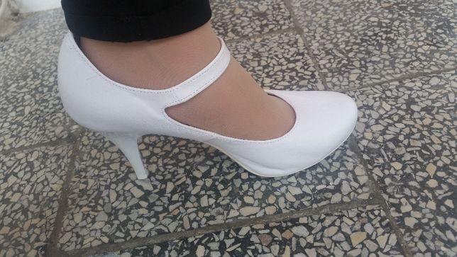 Buty ślubne, białe, rozmiar 37