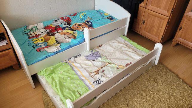 Łóżko piętrowe - wysuwane dla dzieci 2 materace 144 x 85