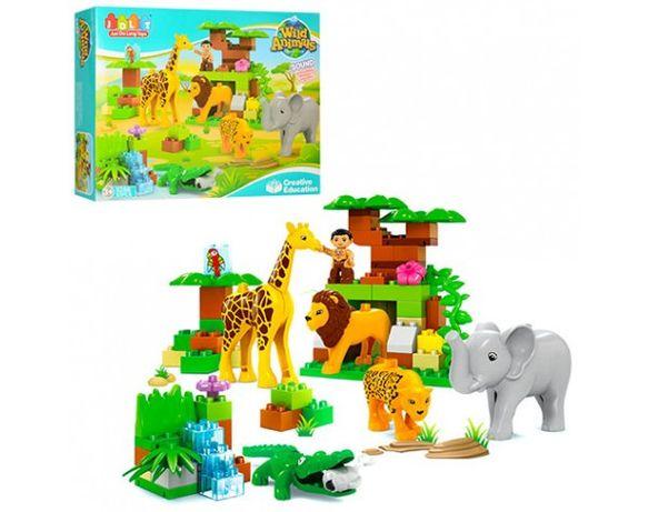 Конструктор ЗООПАРК аналог Лего дупло,Lego Duplo 83 крупных деталей