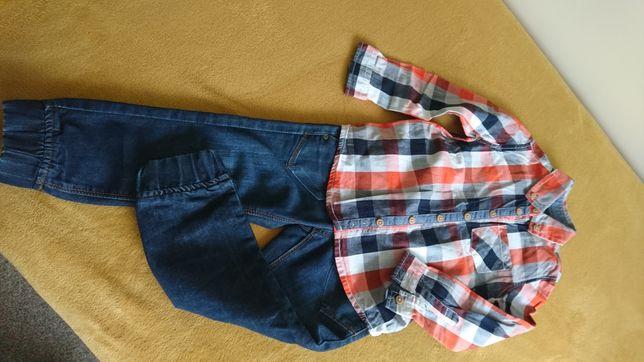 Spodnie i koszula roz.104