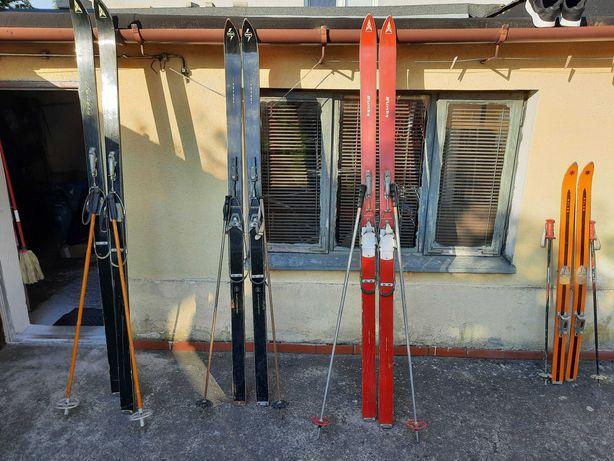 Stare narty + buty narciarskie + łyżwy