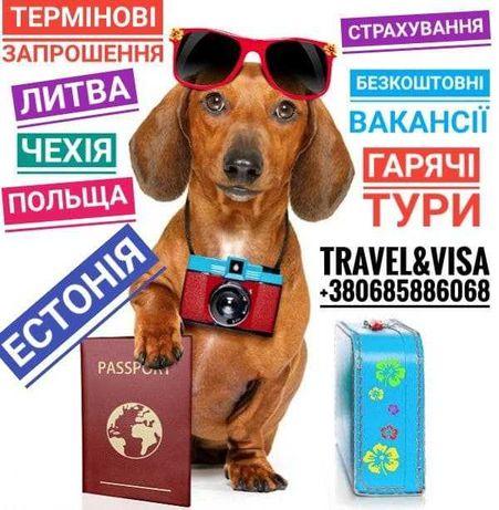 Гарячі тури, Візова підтримка, Страхування, Безкоштовні вакансії