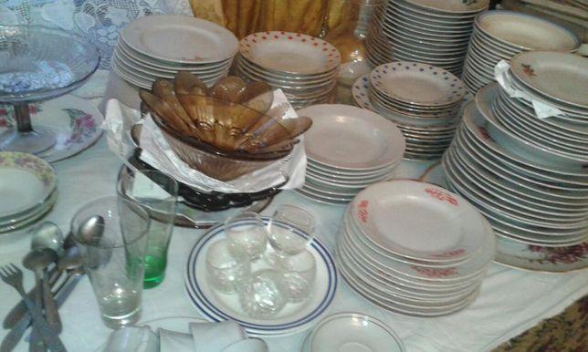 Аренда посуды для поминал. обедов,свадеб недорогих, цена 3 гр/шт.
