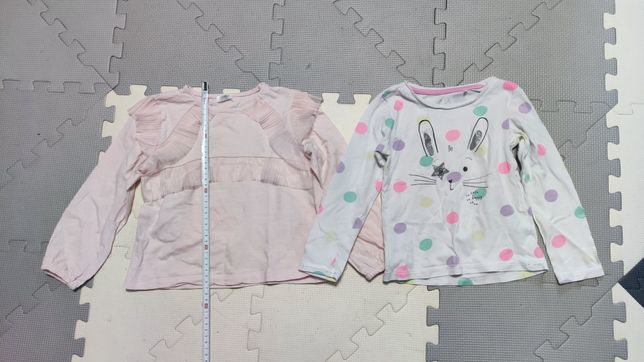Koszulki z długim rękawem zestaw, 98 i 104